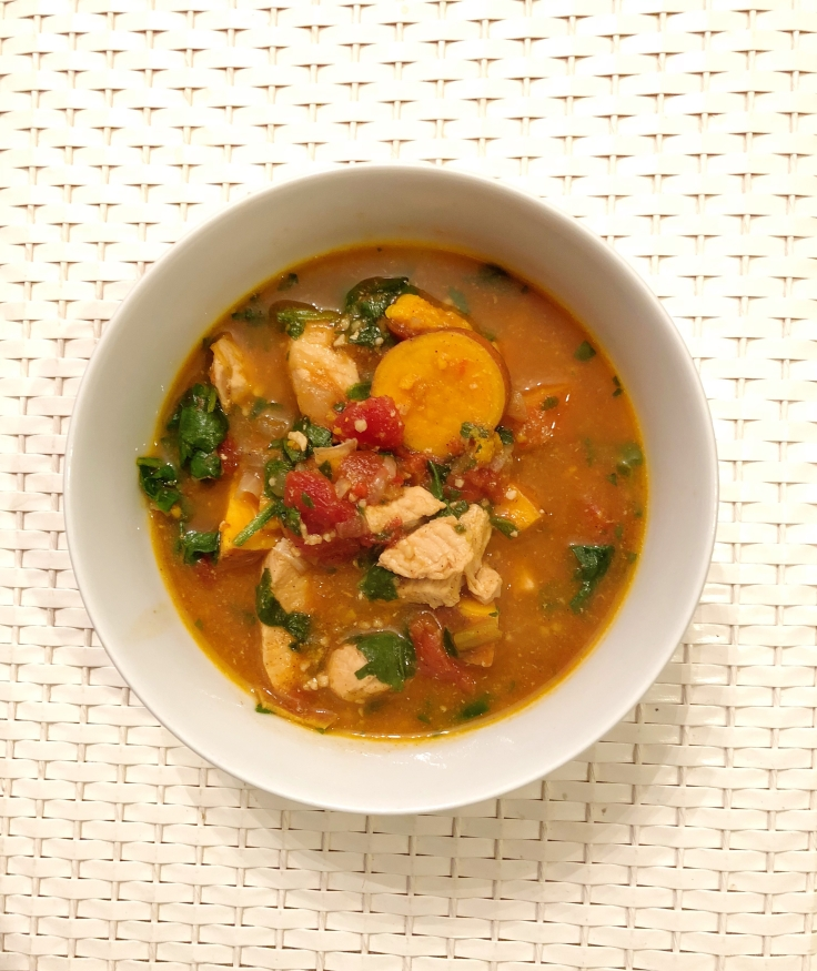 Tone It Up Whole30 approved Moroccan Chicken Stew