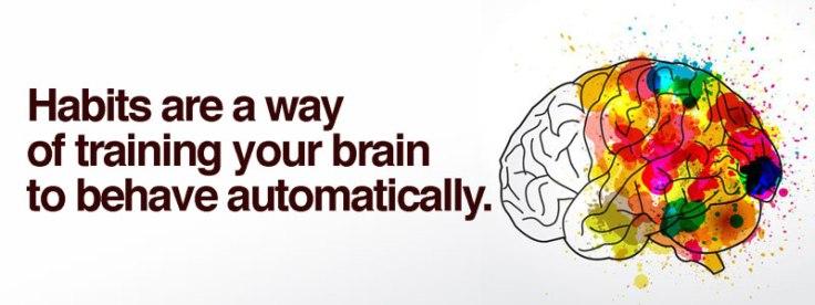 Habits train your brain.